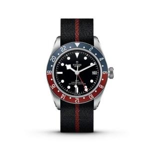 Black Bay GMT Tudor correa rojo con negro