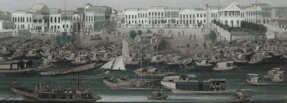 Barcos perteneciente a la compañía de las indias orientales de China