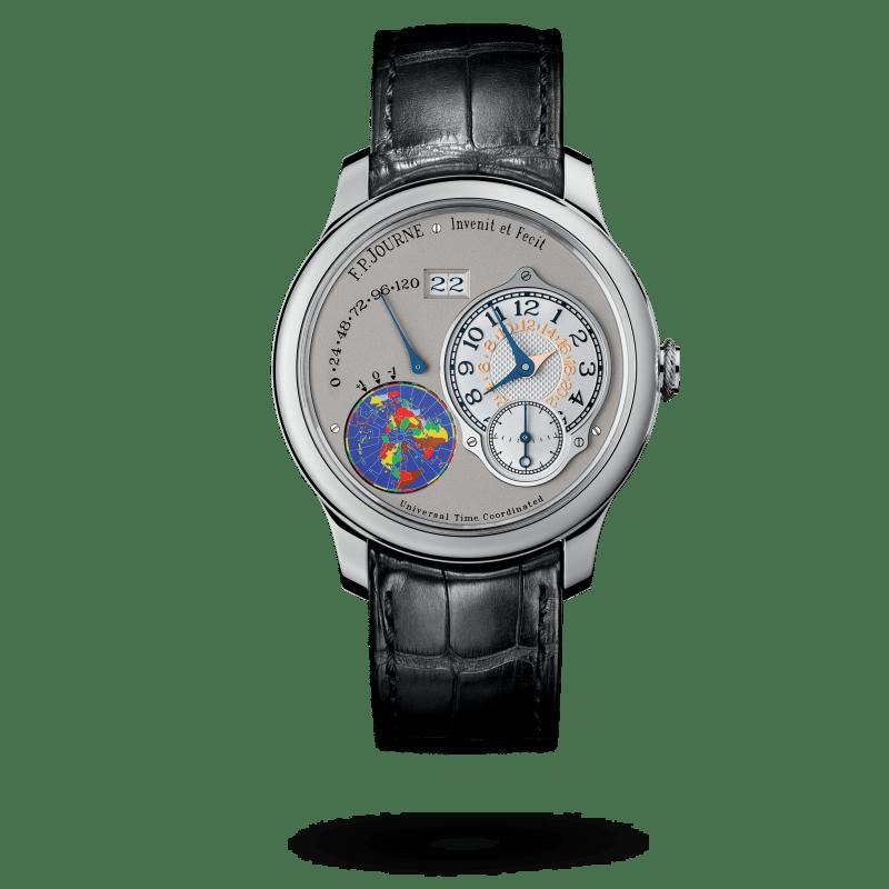 Reloj color negro con marco plateado