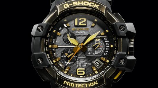 Portada con la caratula del reloj CASIO en color negro con detalles en color dorado