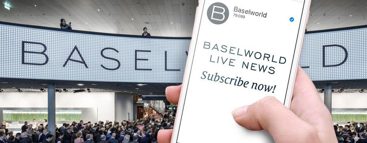 Baselworld te invita a suscribirte a sus redes sociales