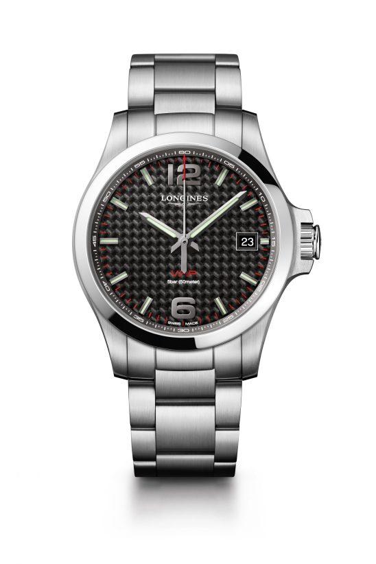 Reloj negro con cuadros Longines modelo L3-716-4-66
