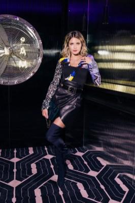 Modelo recargada en BGLAM Milan Fashion Week