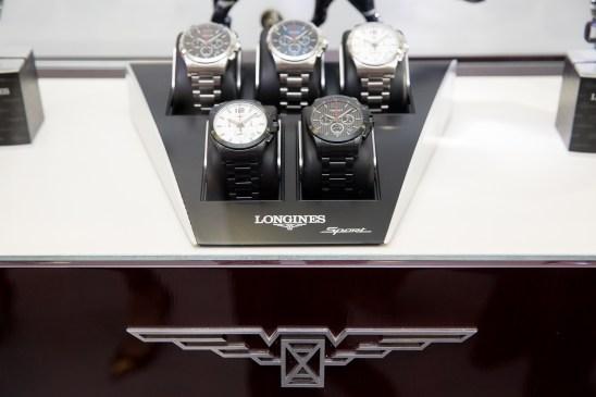 """5 relojes Longines en mostrador por el estreno de """"""""Back to the future of Quartz"""""""