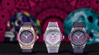 3 relojes hublot catrina en exhibición