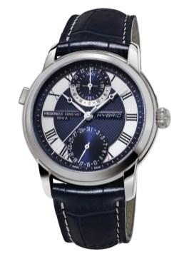 Reloj Frédérique Constan en color azul con detalles plateados