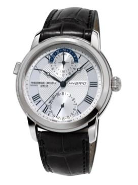 Reloj Frédérique Constan en color negro con detalles plateados