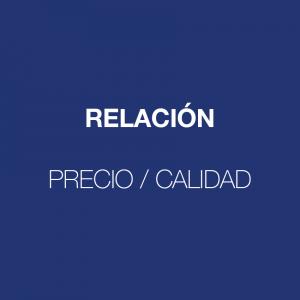 Imagen con fondo morado de Relación, Precio y Calidad
