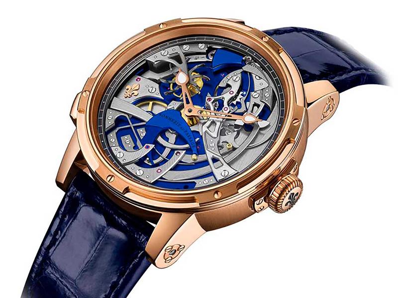 Reloj Ultravox con correas azules y detalles en color plateado y dorado