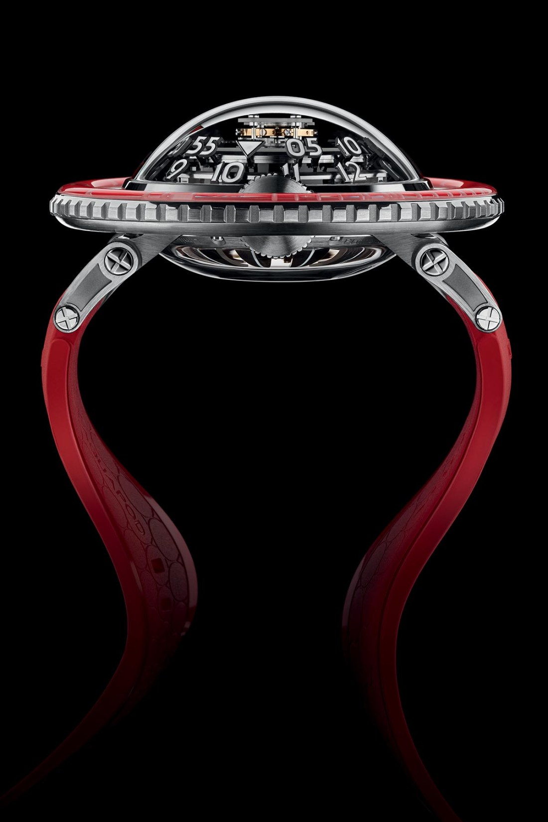 MB&F HM7 Aquapod Platinum Red