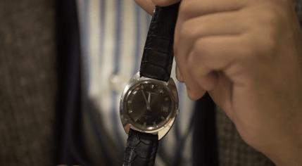 Reloj Seiko en color negro con detalles en color plateado