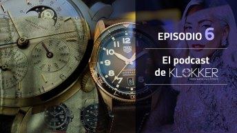 Portada de El Podcast de Klokker Episodio 6 con algunos relojes de fondo