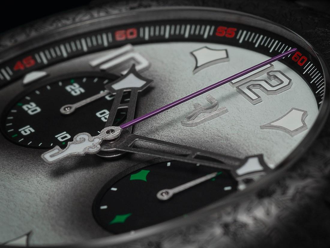 Caja del reloj RJ Batman en color plata con detalles negros y blancos