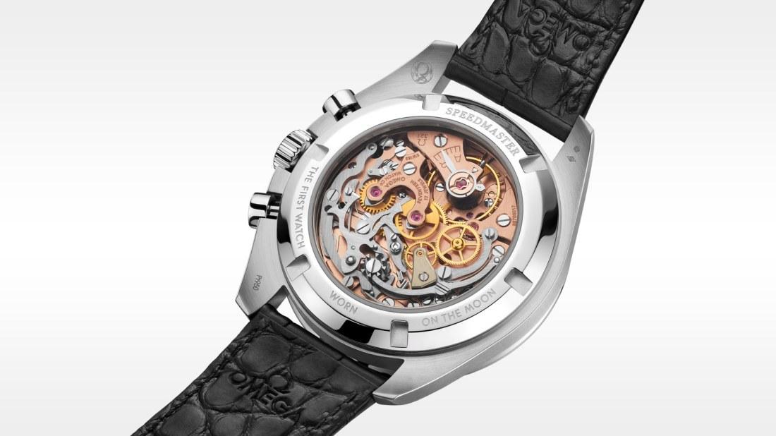 Parte trasera del reloj Omega con el calibre 321