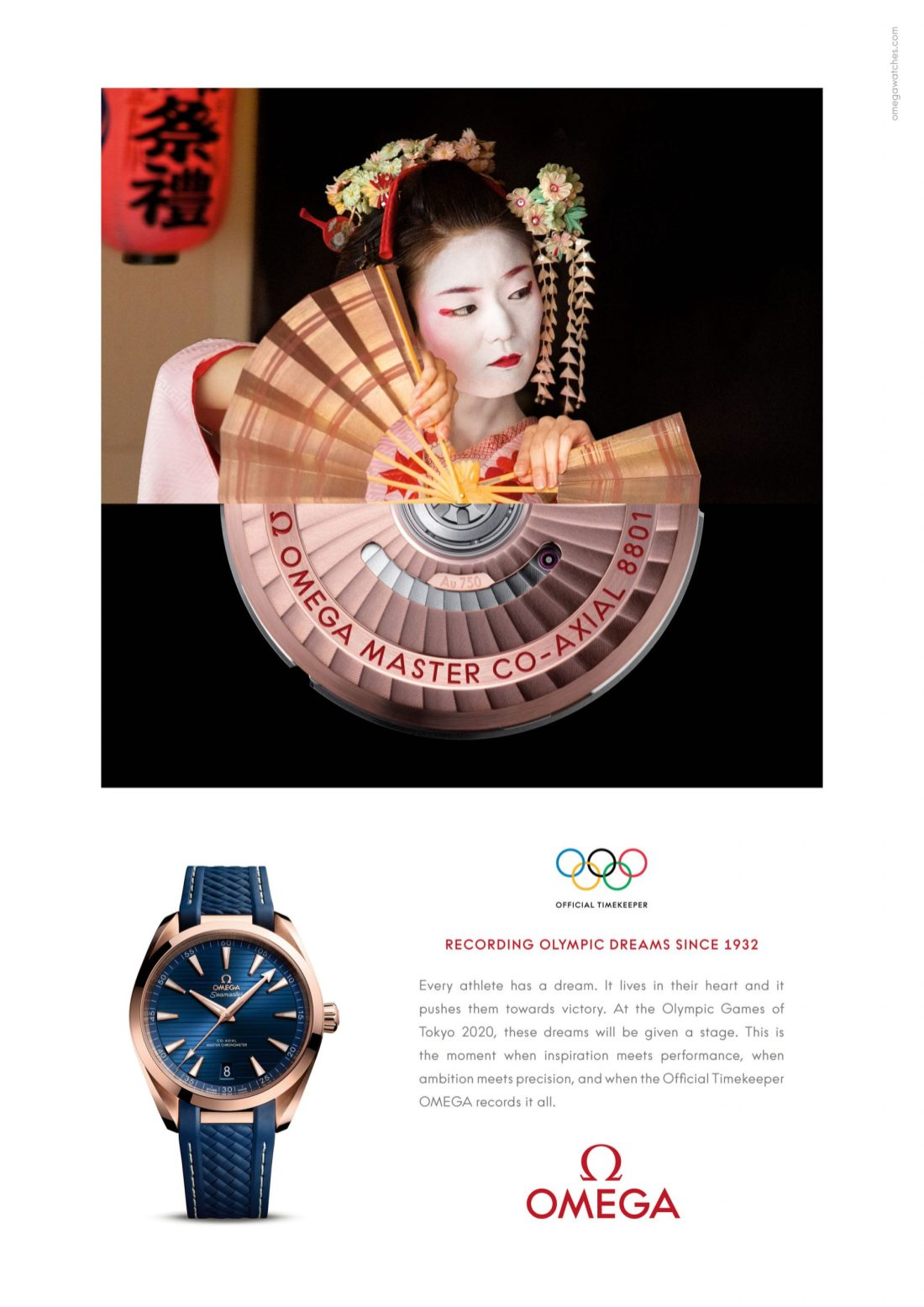 Publicidad OMEGA TOKIO 2020