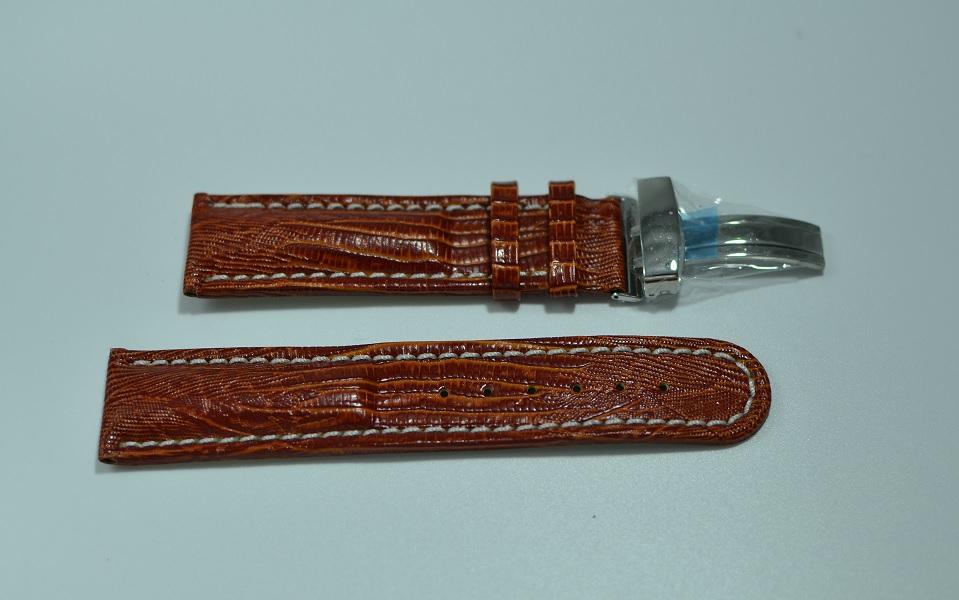24mm brun skinnreim