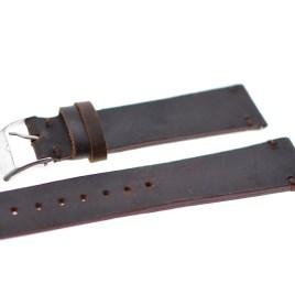 20 mm vintage brun lærreim