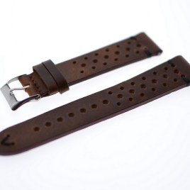 20 mm brun vintage lærreim