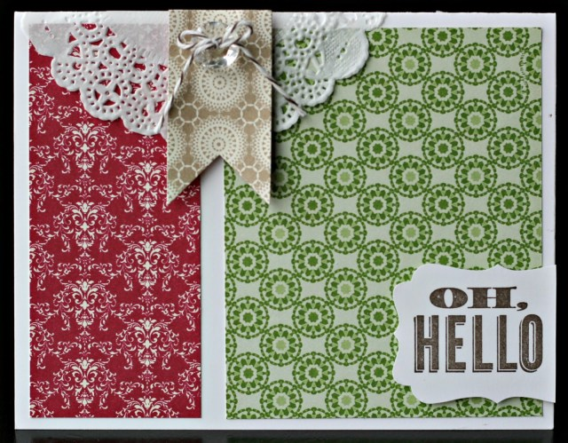 Oh, Hello–From Stampin' Up!