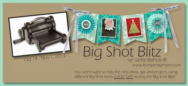 Big Shot Blitz–Day 2: Another Technique With Embossing Folders