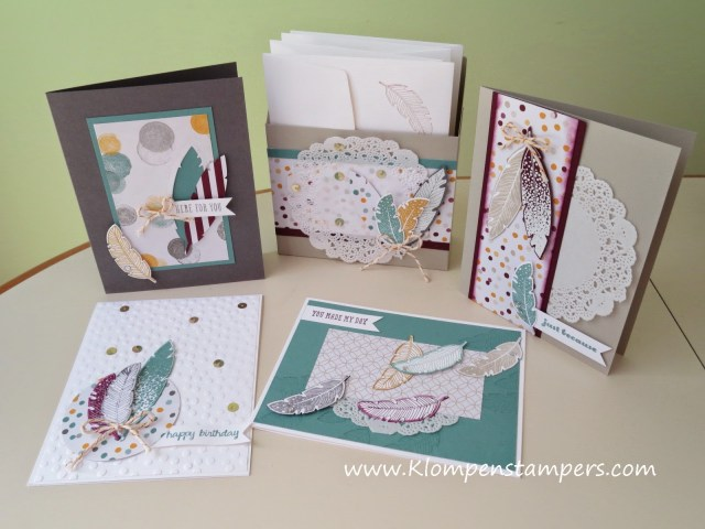 Cute Gift Box With 4 Coordinating Cards