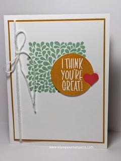 I Think You're Great (I really do!)