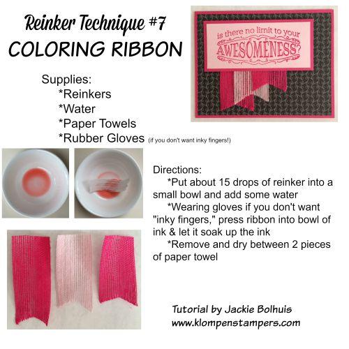 Technique #7 Using Ink Refills