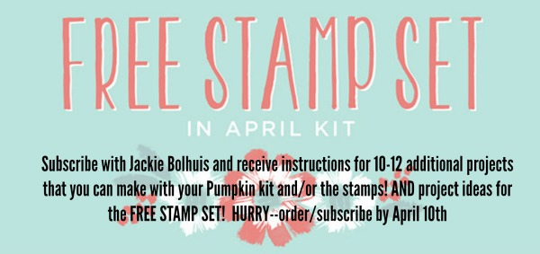 FREE Stamp Set With Paper Pumpkin!!!!