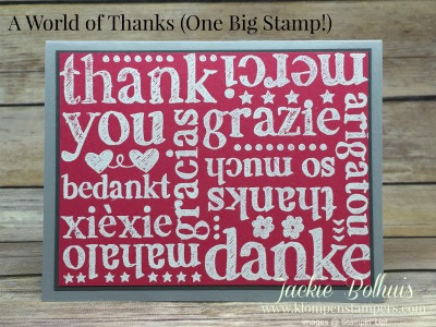 """Another """"World of Thanks"""""""