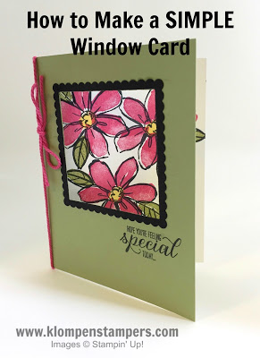 How To Make a Simple Window Card