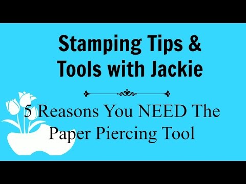 Stamping Tips & Tools Video:  Piercing Tool