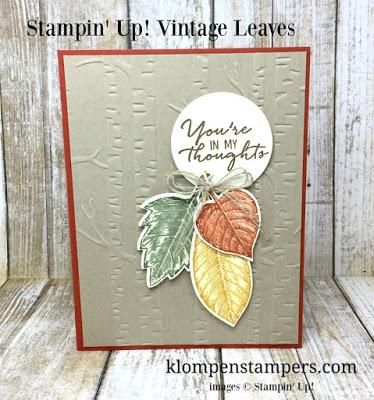 Vintage Leaves Card Series:  Card #2