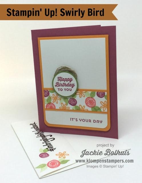 Swirly Bird Card Series:  Card #12