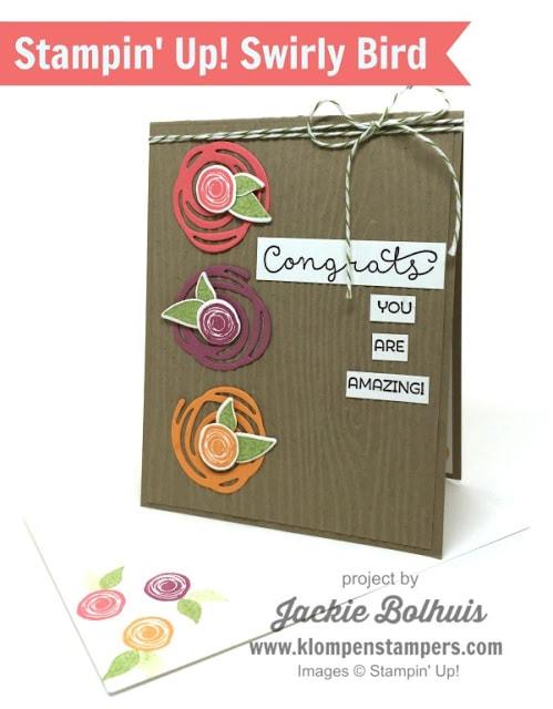 Swirly Bird Card Series:  Card #13