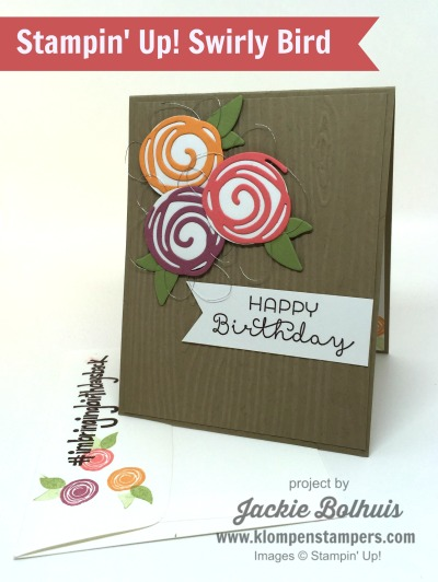 Swirly Bird Card Series:  Card #14
