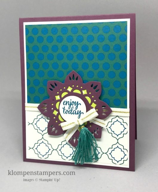 Free Gift with purchase of the Eastern Palace bundle in May. Also receive tutorials for projects using the bundle! From Jackie Bolhuis, Klompenstampers