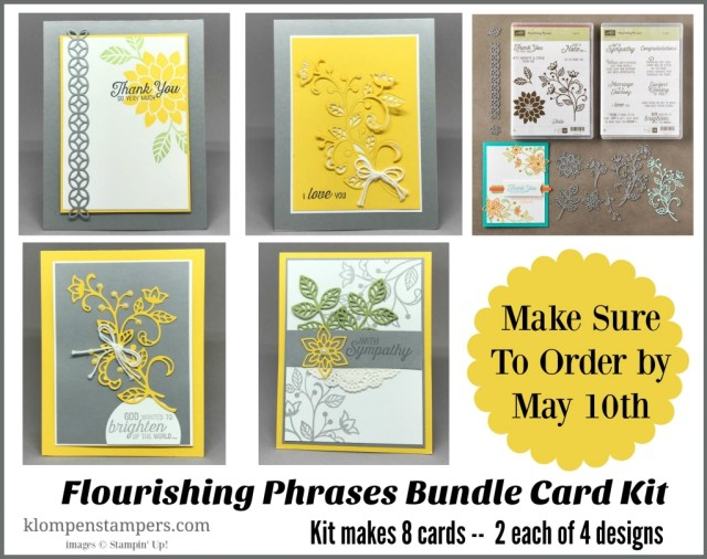 Flourishing Phrases Card Collection. Free card kit with purchase, or tutorial and video available.