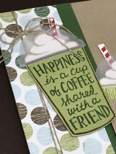 Lots of ideas using the Coffee Break suite of products, including the Coffee Cafe stamp set from Stampin' Up!. All details & instructions posted on klompenstampers.com