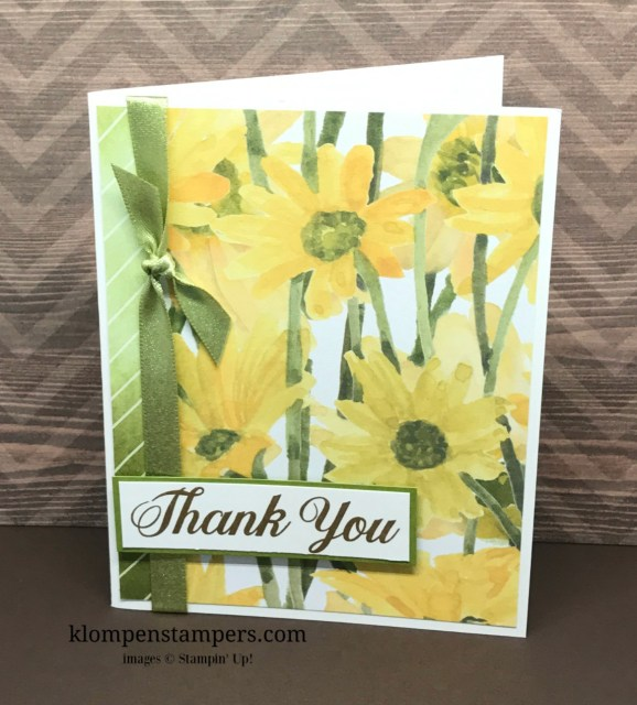 Several different ideas using the Delightful Daisy DSP from Stampin' Up! Cutting instructions posted on blog. www.klompenstampers.com