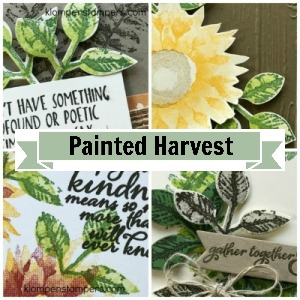 Online stamping class using Painted Harvest stamp set from Stampin' Up!