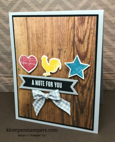 Another Fun Card Using Wood Words Stamp Set
