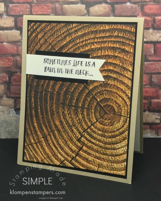 Quick & Easy cards featuring Wood Textures Designer Series Papers (DSP) from Stampin' Up!. Great Masculine Cards!