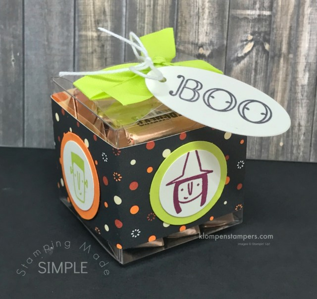 Cute Halloween Box ideas using Spooky Cat & Creep it Real stamp sets from Stampin' Up!