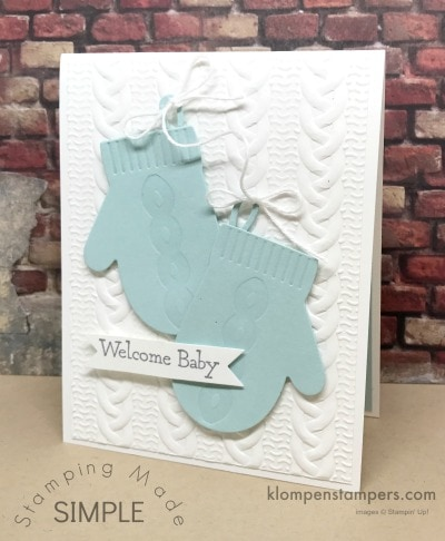 Baby Card Using Smitten Mittens