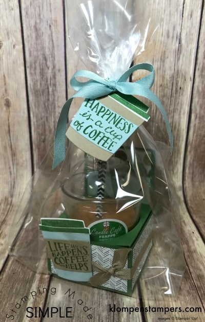 Easy Box to Hold Candle & Gift Card