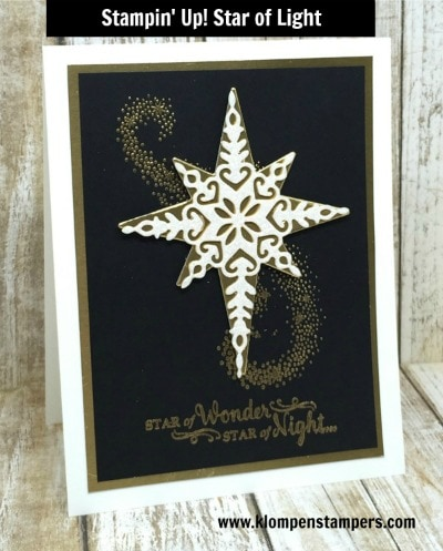 Elegant (& easy) Gold & Black Christmas Card