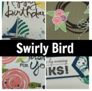 Swirly Bird Card Collection Tutorial and Video
