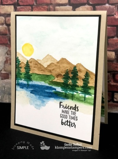Easy Watercolor Technique With Waterfront Stamp Set