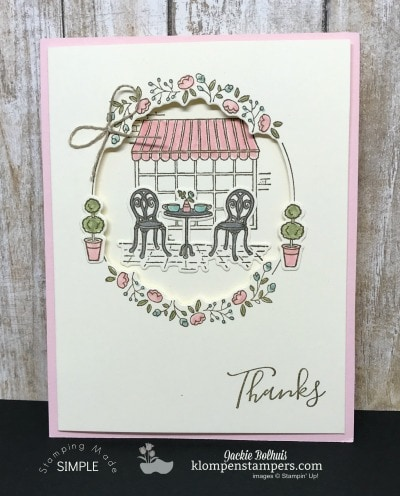 Charming Cafe Card #1