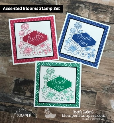 Stamping Made Simple Using Accented Blooms Stamp Set